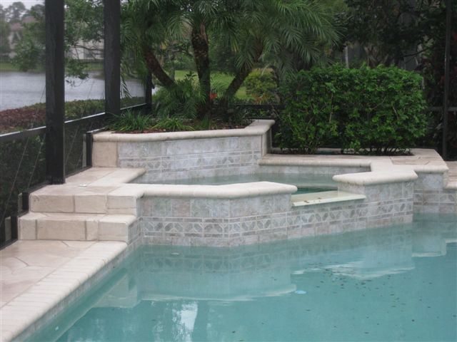 Pool Deck Stone Cut